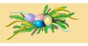 Drawing of Easter egg by Debidolittle