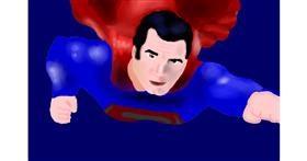 Superman drawing by Cahaya