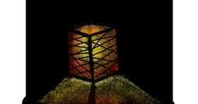 Lamp drawing by Vicki