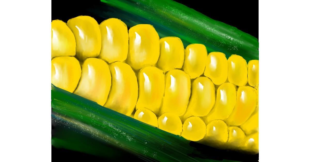 Drawing of Corn by Mitzi