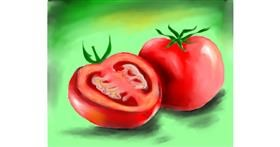 Tomato drawing by Freny