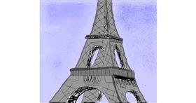 Eiffel Tower drawing by Hardyboys007