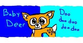 Deer drawing by LoriaDaBest