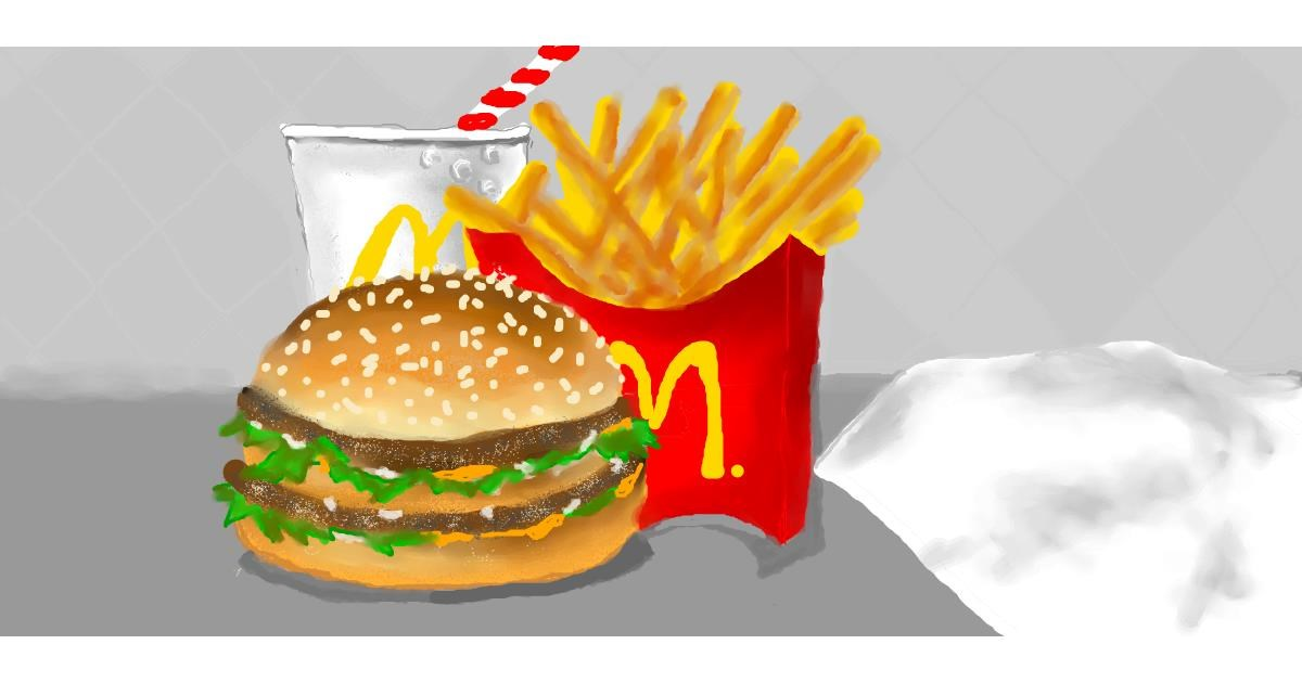 Drawing of French fries by Debidolittle
