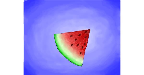 Watermelon drawing by *Ellie person*