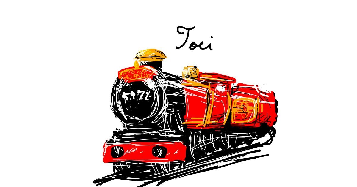 Train drawing by SOMTUI