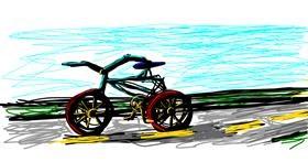 Bicycle drawing by Moki