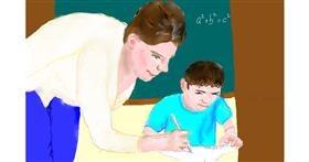 Teacher drawing by GJP