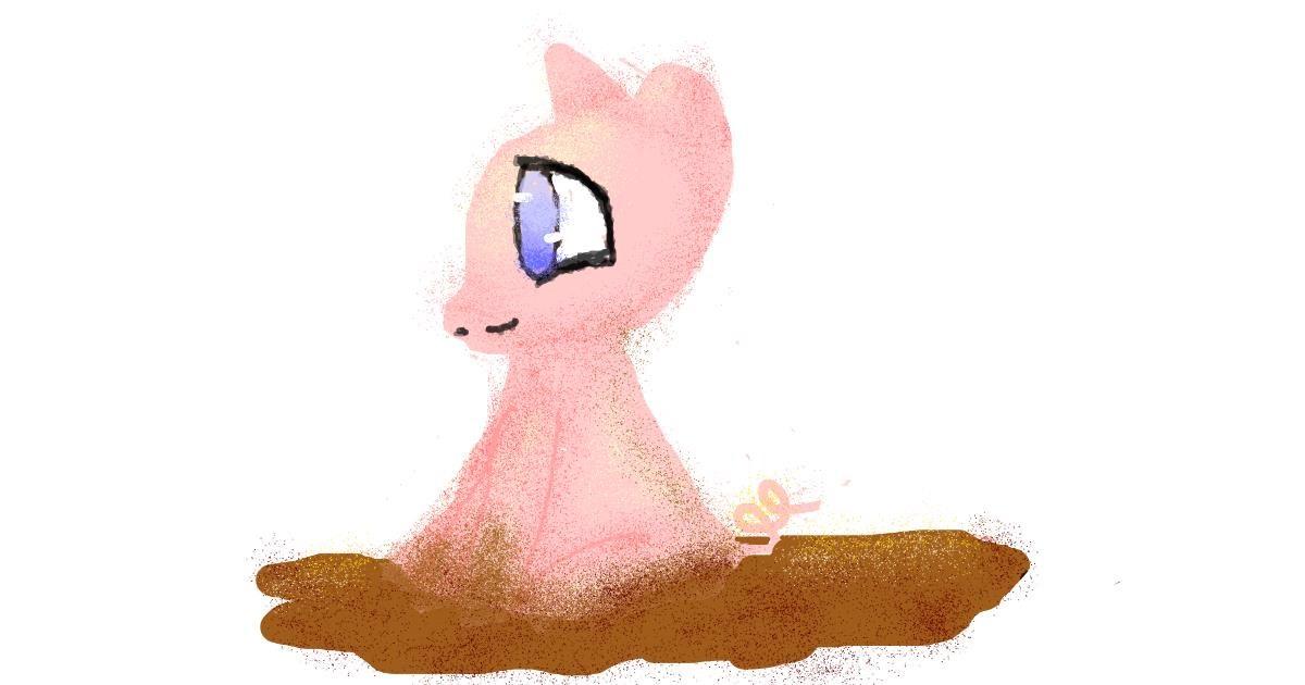 Pig drawing by cookie karr