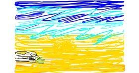 Beach drawing by Marina🥃