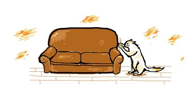 Couch drawing by hahah