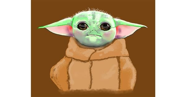 Baby Yoda drawing by Cec