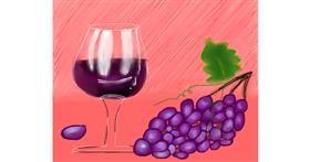 Grapes drawing by Freny
