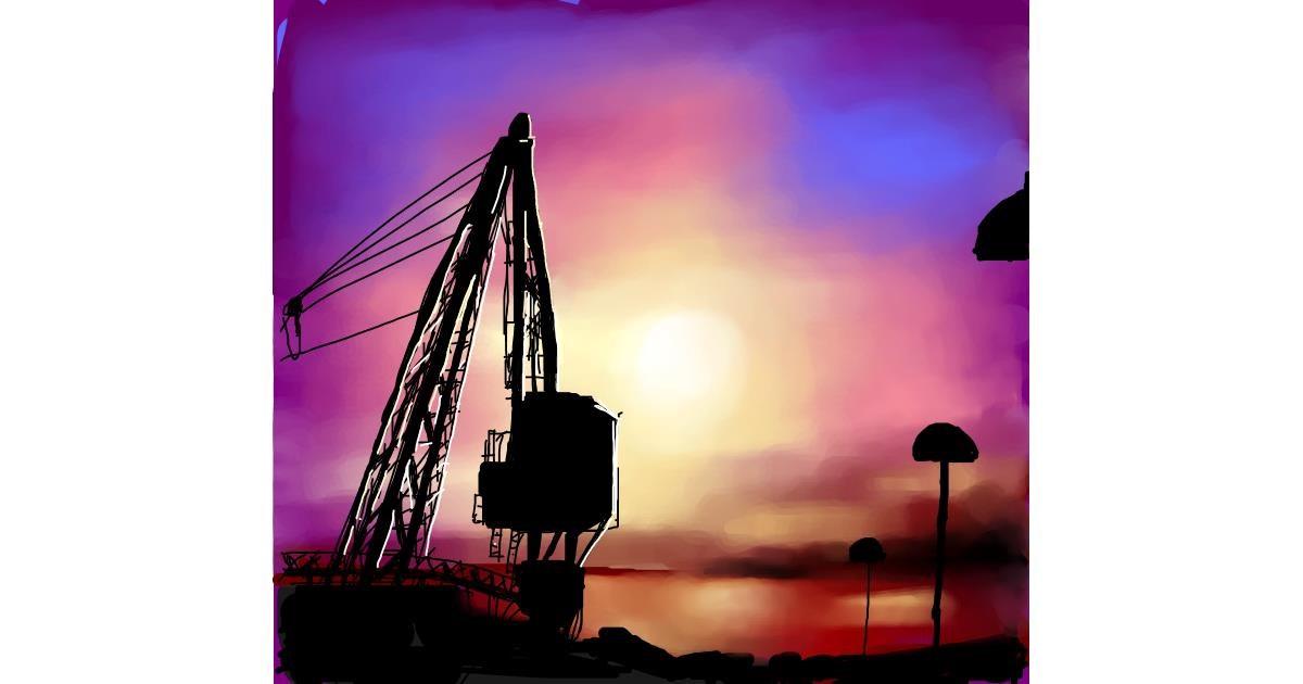 Crane (machine) drawing by Elliev