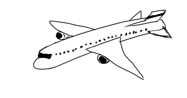 Airplane drawing by Natasha