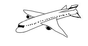 Airplane drawing by Natasha