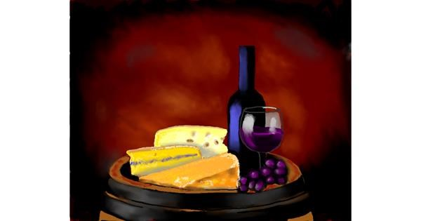 Cheese drawing by Cec