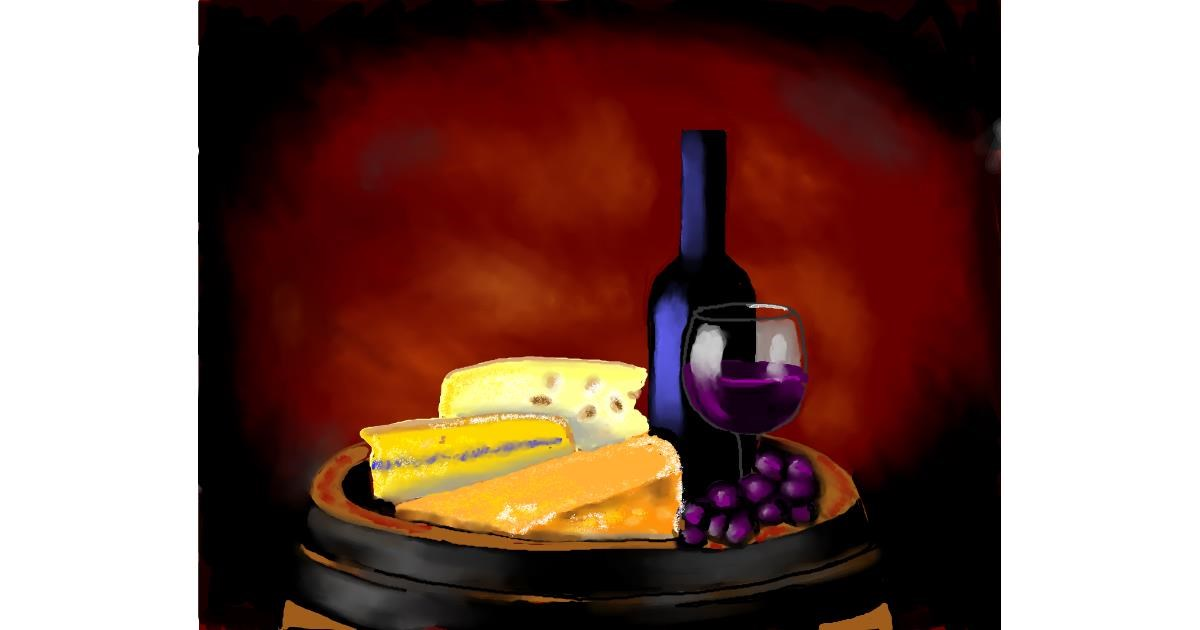 Drawing of Cheese by Cec