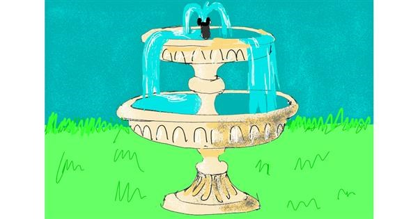 Fountain drawing by ThasMe13