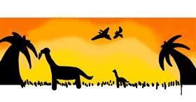 Dinosaur drawing by snaigel