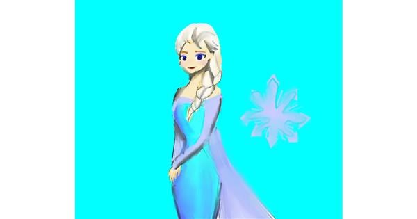 Elsa (Disney) drawing by Pinklet