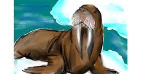 Walrus drawing by (luna lovegood)