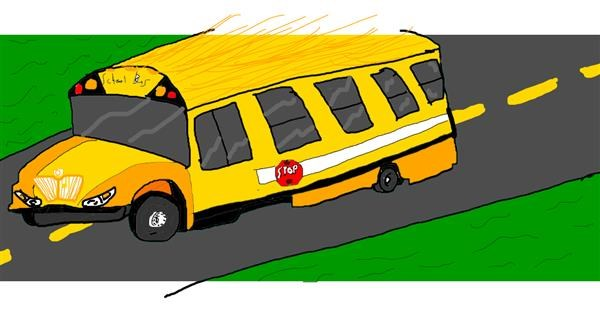 Bus drawing by Laum