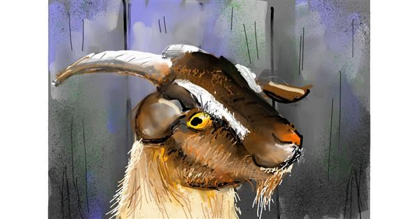 Goat drawing by Swastikaa