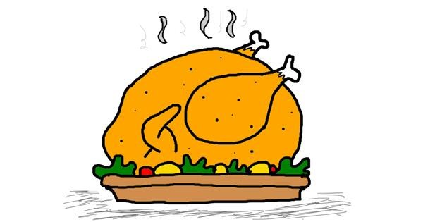 Turkey drawing by swa