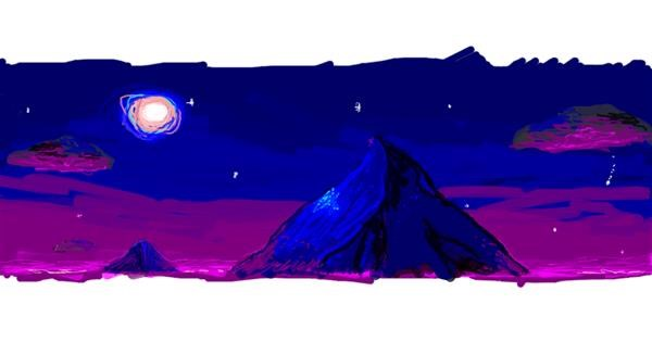 Moon drawing by 7y3e1l1l0o§