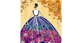 Dress drawing by Manali