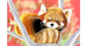 Red Panda drawing by GJP