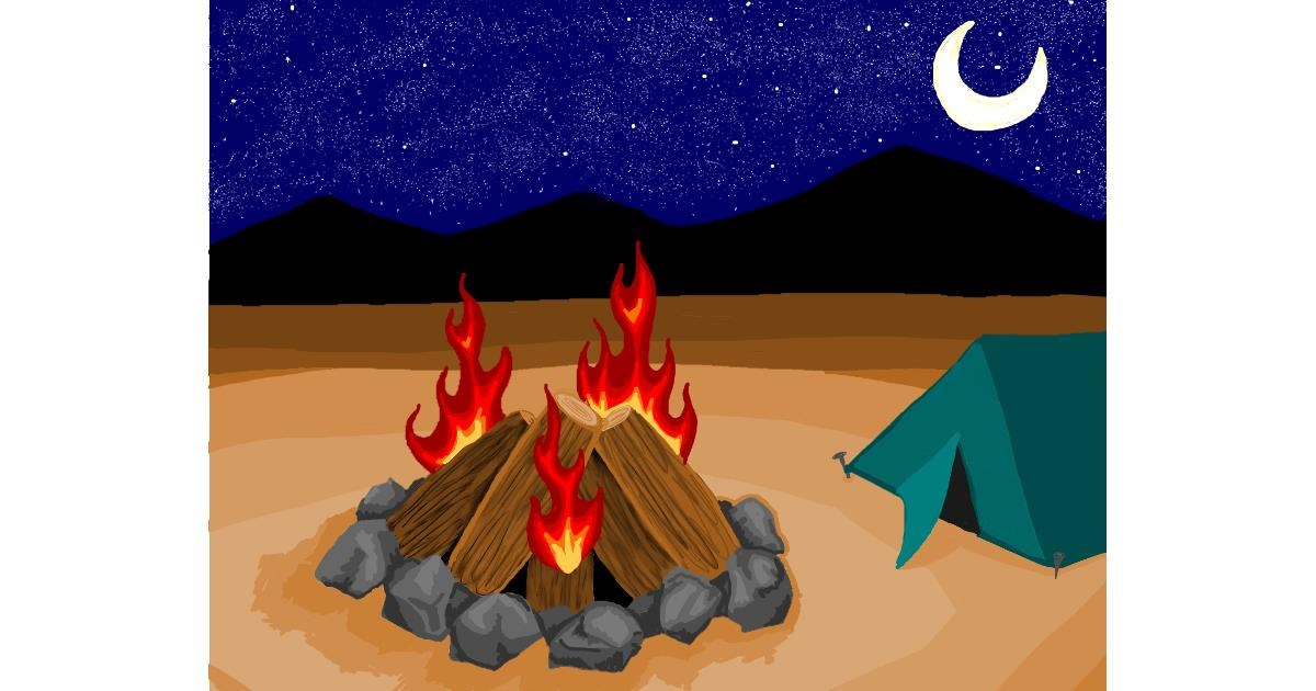 Drawing of Campfire by Notbob27