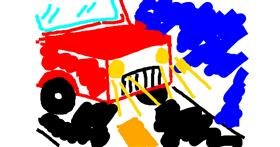Drawing of Truck by Des