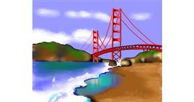 Bridge drawing by Cec