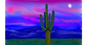Cactus drawing by Tim