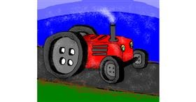 Tractor drawing by Janny Boy