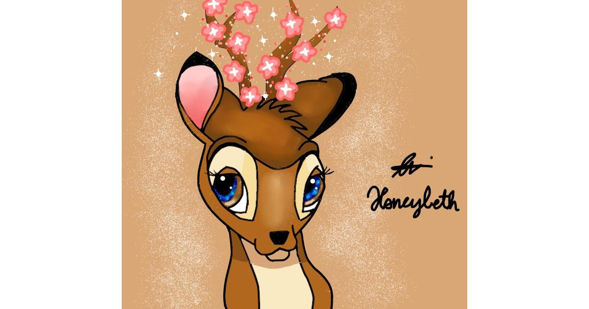 Drawing of Bambi by Holy Kirbo