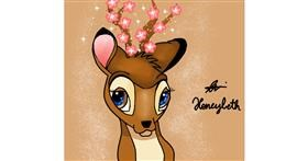 Bambi drawing by Holy Kirbo